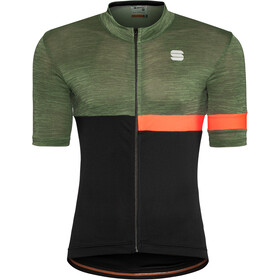 Sportful Giara Maillot Hombre, dry green/black/orange sdr